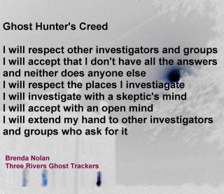 Ghost Hunters Creed